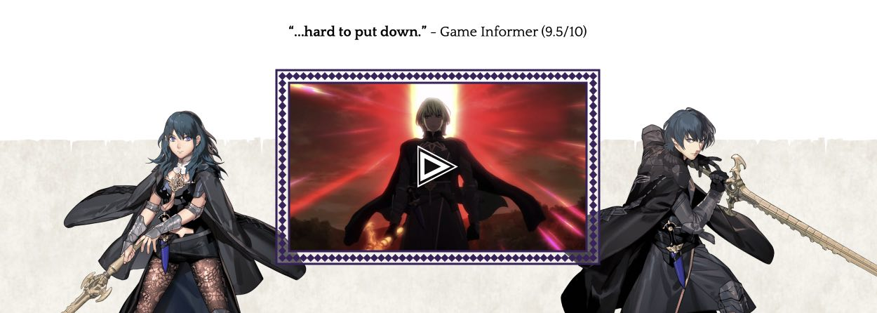 Fire Emblem Three Houses hack month card