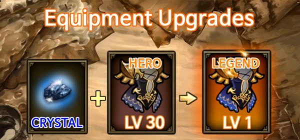 Discover: the lost prince  - equipment upgrades