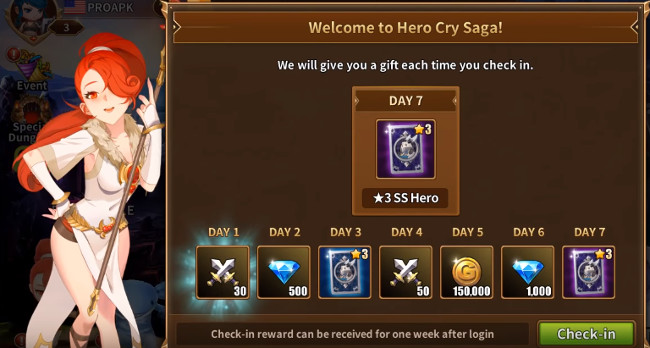 HeroCry Saga gift pack