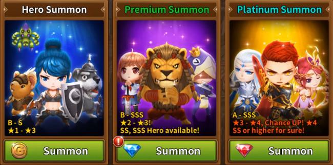 HeroCry Saga summon