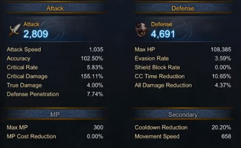 MU Legend - Lupa's Labyrinth - Dark Lord defense, attack