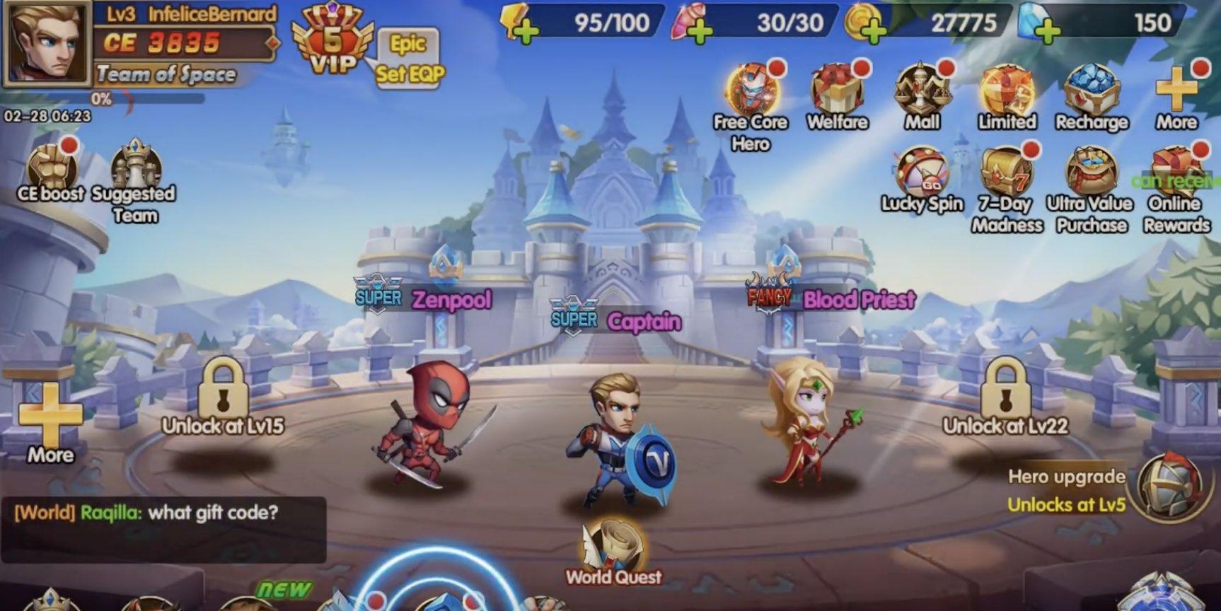 Super Heroes Galaxy tips