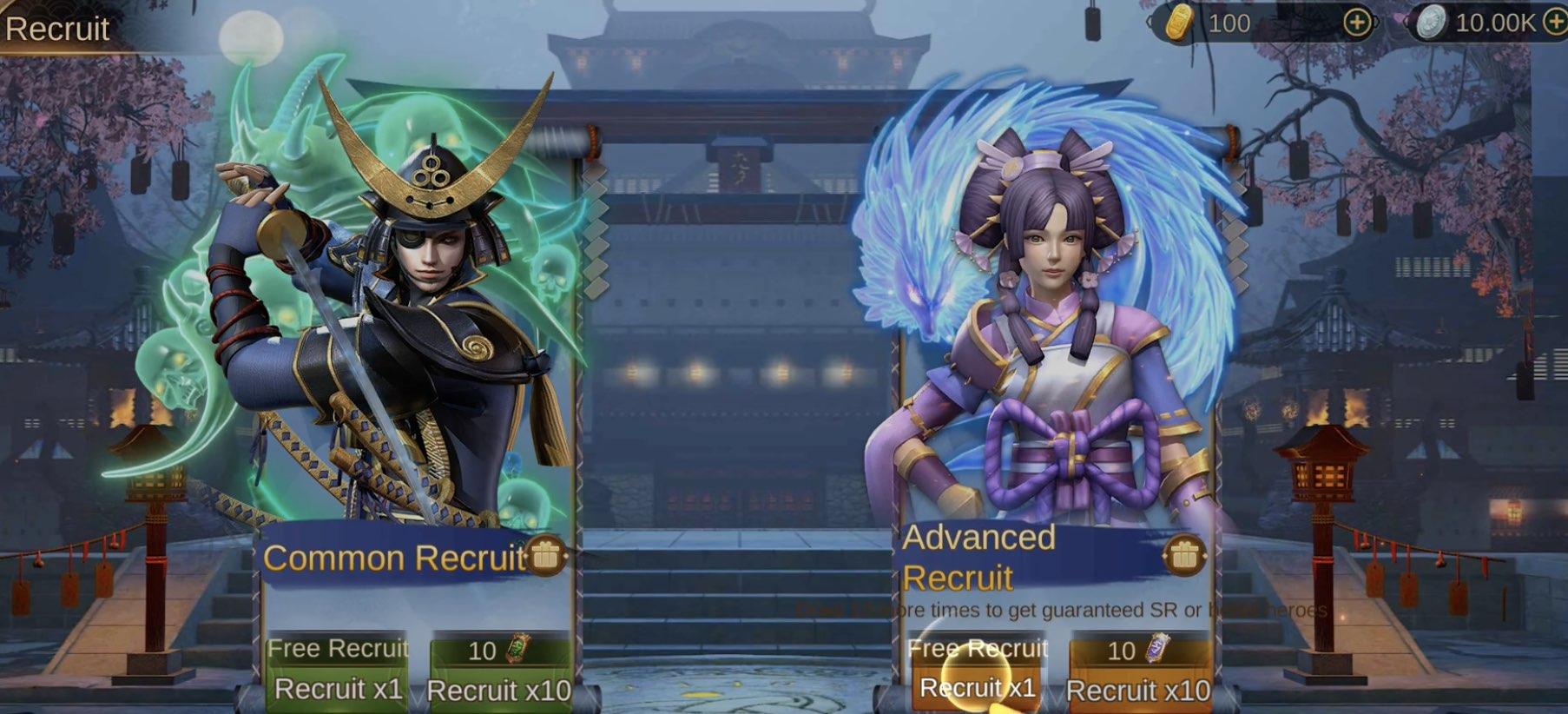 War of Shogun hack relics