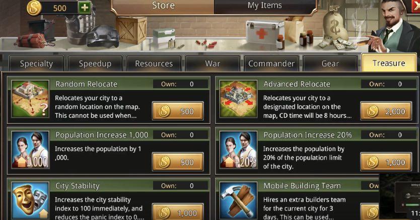 Underworld Legends cheats codes: resources, speed up