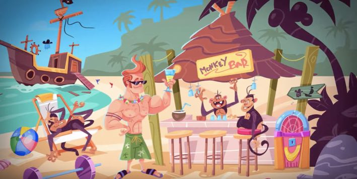 Escape Funky Island hack month card