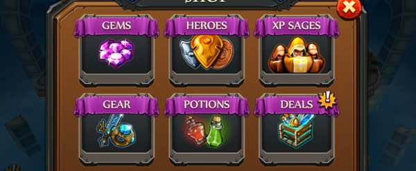 Party of Heroes –  gold , pack, hero, gems