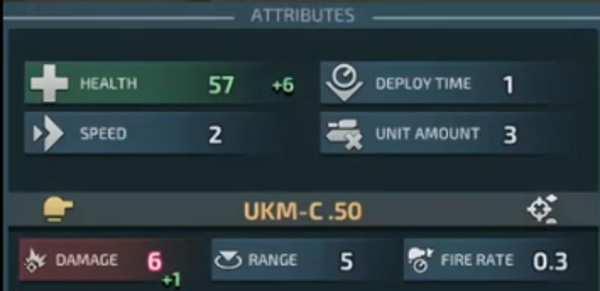 warzone clash of generals: card attributes