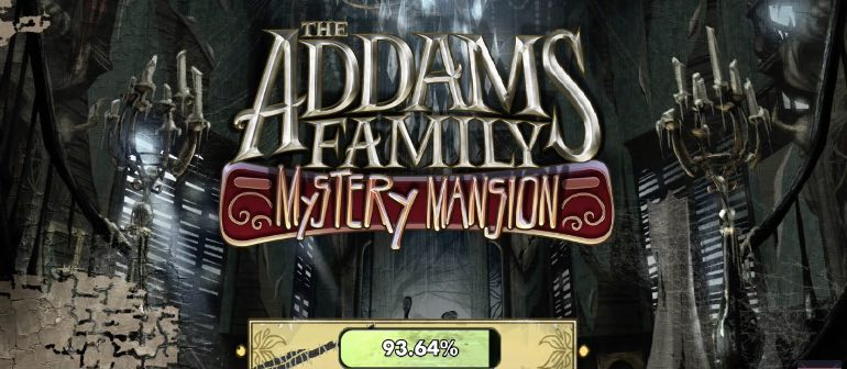 The Addams Family Mystery Mansion hack month card